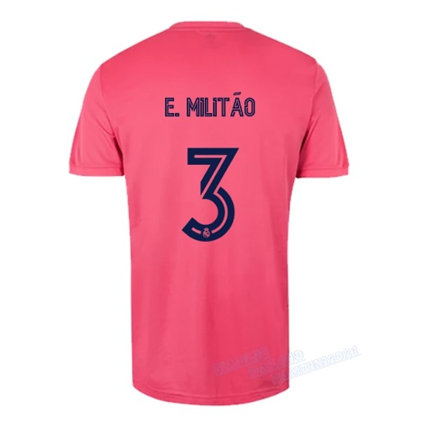 NO.3 E. Militão Away Maglia Real Madrid 2020 2021 Rosa Kit Calcio Offerta